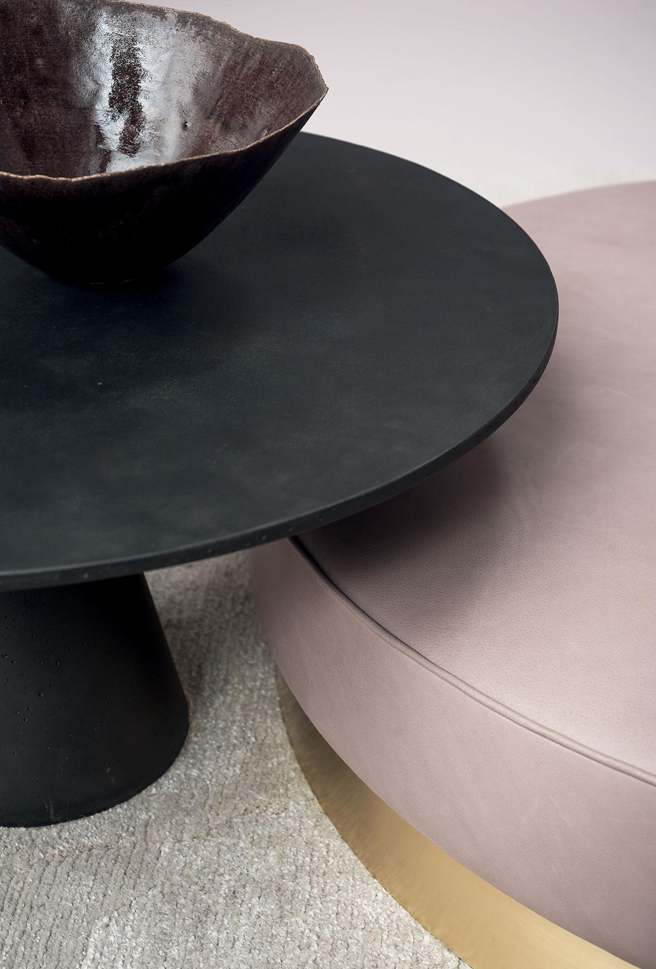 Graniglia Di Marmo Nero.Agglomerato Di Cemento Grigio Antracite Con Graniglia Di