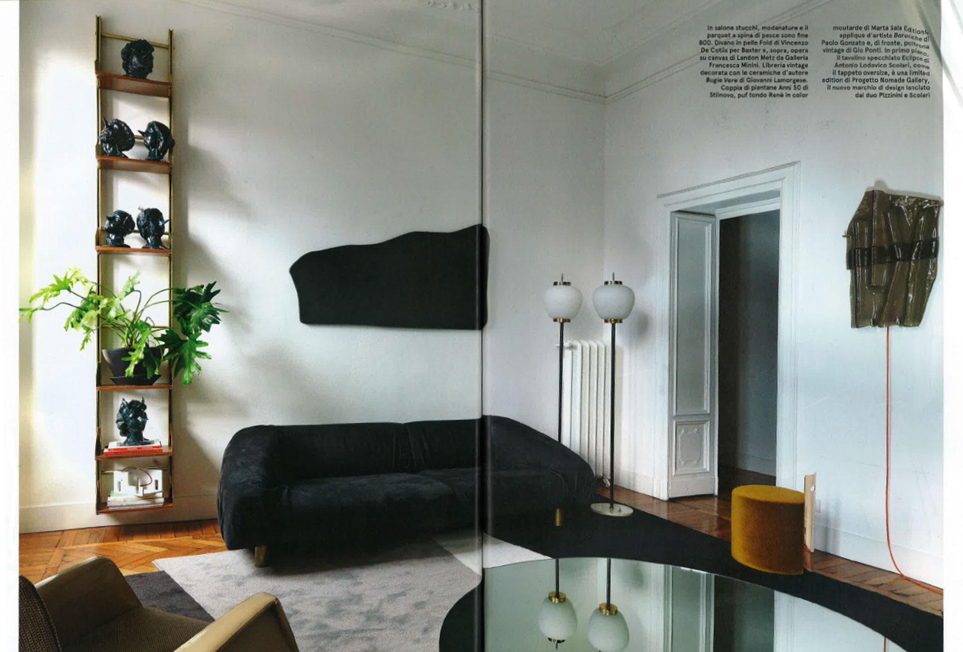 Leather sofa fold baxter