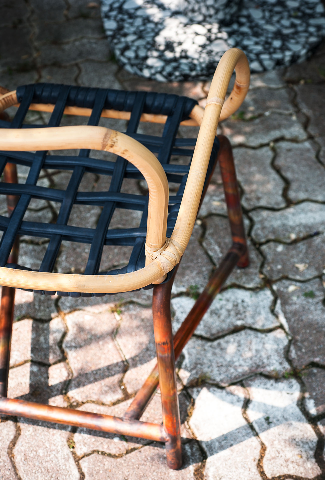Manila leather chair baxter for Baxter paola navone