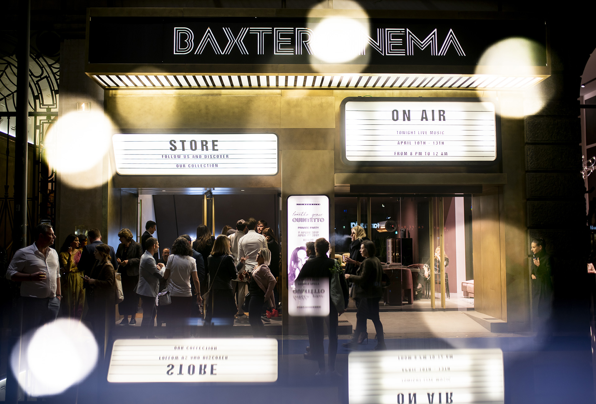 BAXTER CINEMA MUSIC LIVE CLUB - FUORISALONE 2019 PRIVATE PARTY