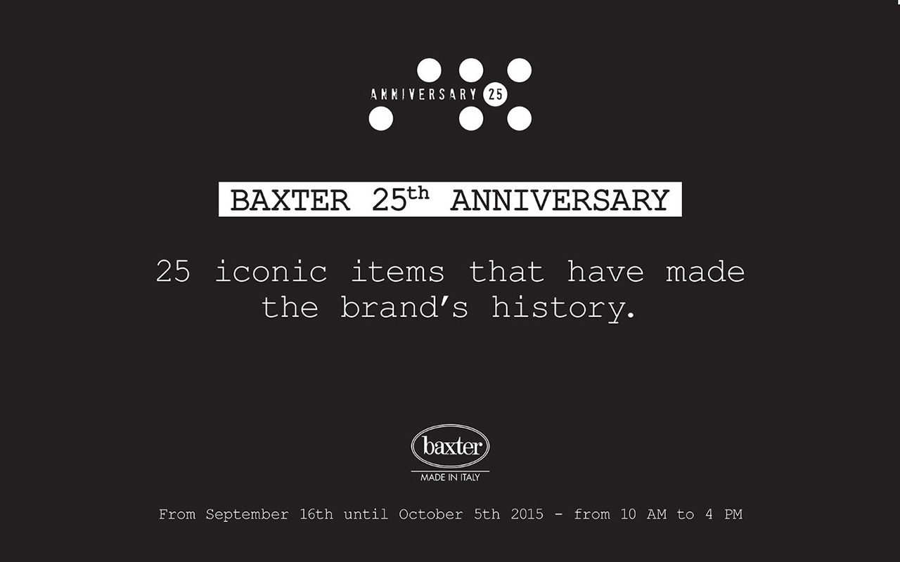 BAXTER 25TH ANNIVERSARY