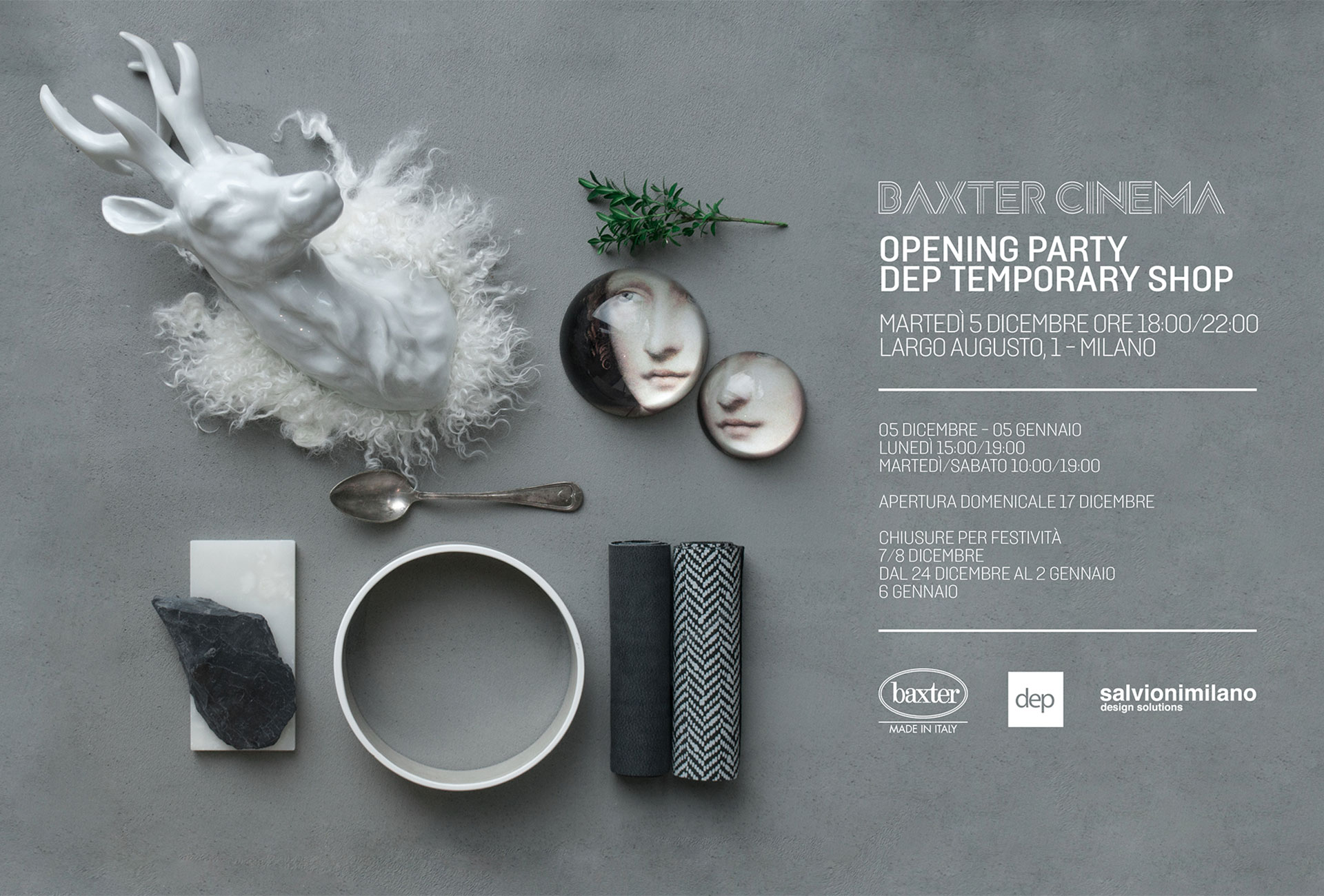 BAXTER CINEMA & DEP TEMPORARY SHOP: UN REGALO DI DESIGN
