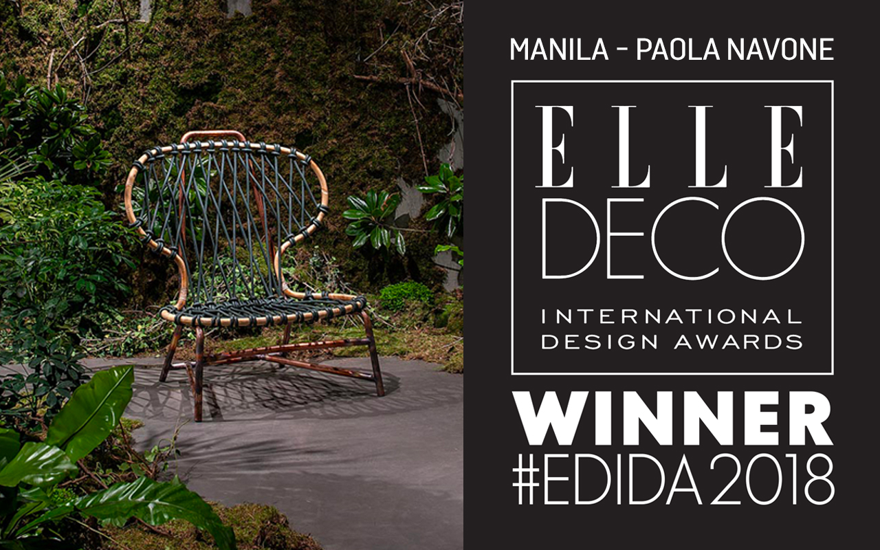MANILA VIENE PREMIATA DAGLI ELLE DECO INTERNATIONAL DESIGN AWARDS