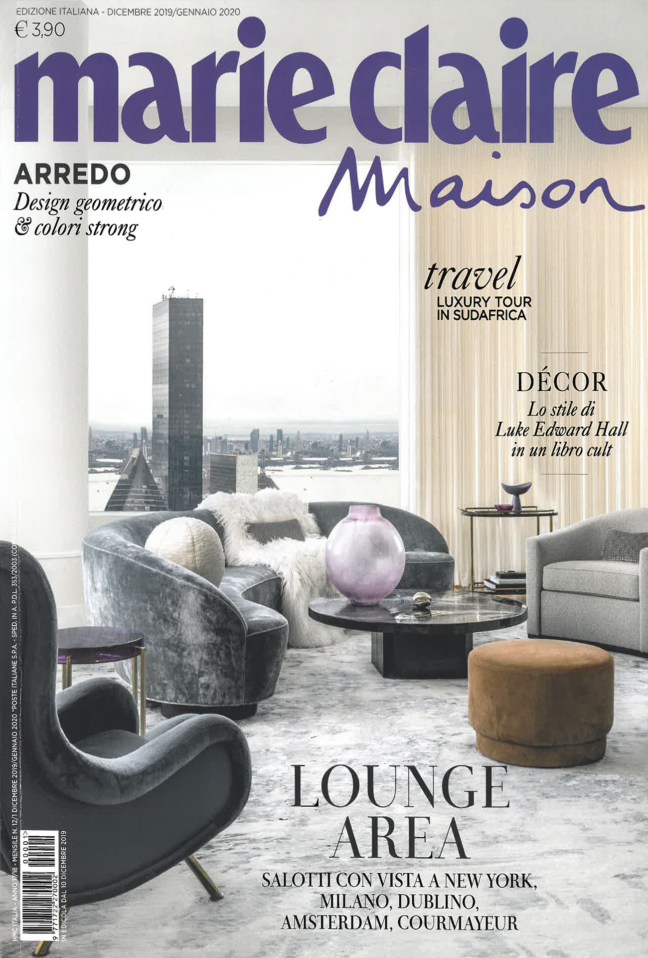 Marie Claire Maison Italy December 8 - January 8  Baxter