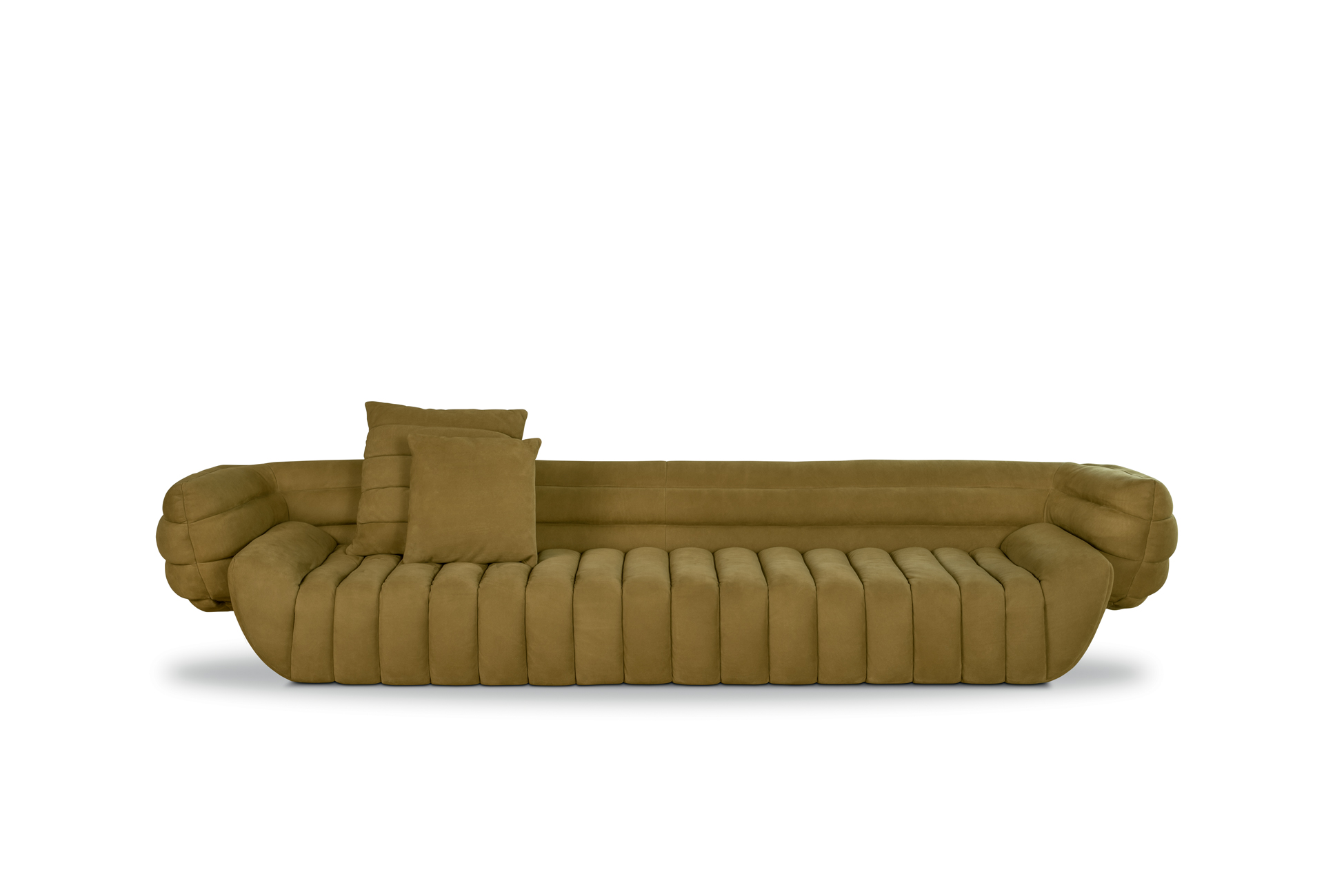 Poltrone E Sofa Gravellona Toce tactile leather sofa | baxter